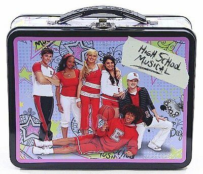 High School Musical Purple and Black Tin Lunch Box