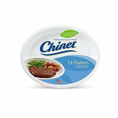 Chinet Premium 10-Inch Platters, 24-Count Packs (Pack of 4)