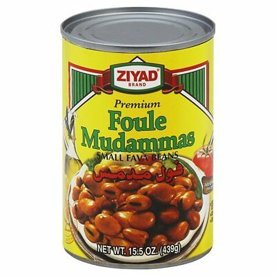 Ziyad Foule Muddamas (Fava Beans), 15.5-Ounce (Pack of 6)