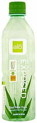 ALO Exposed Aloe Vera Juice Drink, Original + Honey, 16.9 Ou