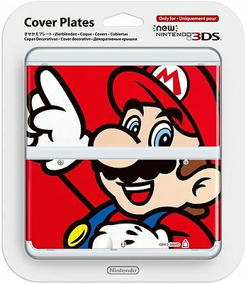 Nintendo NEW 3DS Cover Plates MARIO - New in Original Pack No. 001 N3DS Red