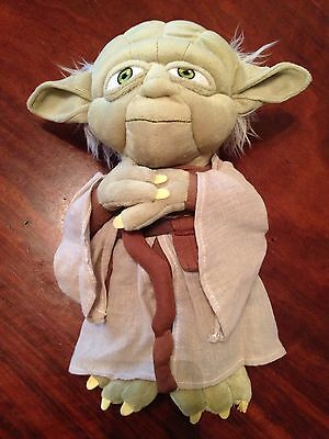 """Disney Yoda Star Wars 12"""" Plush Toy Figure Authentic Collectible"""