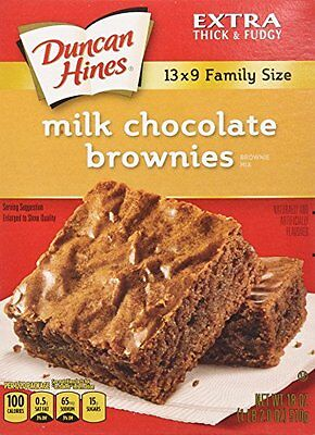 Duncan Hines Brownie Mix, Milk Chocolate, 18 Ounce (Pack of