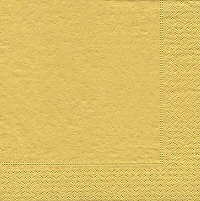 Caspari Entertaining Cocktail Napkin, Gold, 20-Pack