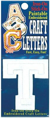 Joy S.A. 50100-50120 Embroidered Craft Letter, T, 2-Inch