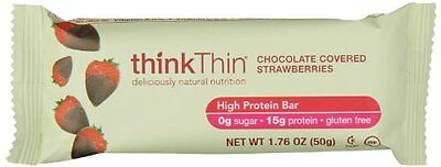 thinkThin High Protein, Chocolate Covered Strawberries, 17.6