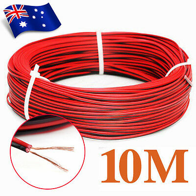 10M 12V Power Led Strip Light Wire Red Black Flexible Extension Connector Cable