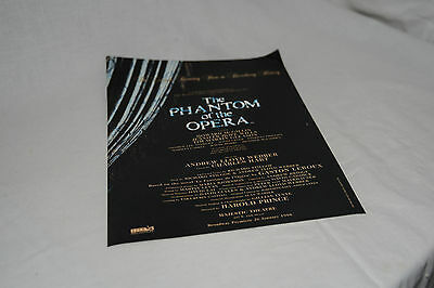 Vintage Theatre Programme PHANTOM OF THE OPERA Cast List Howard McGillan