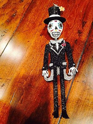 NEW w/ Tags PIER 1 Import GROOM Glitter ORNAMENT DAY of DEAD