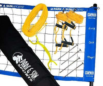Park & Sun Sports Portable Outdoor Youth Volleyball Net Syst