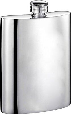Visol Judge Mirror Polished Genuine Pewter Flask, 6-Ounce