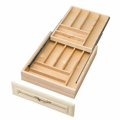 Rev-A-Shelf Double Tiered Cutlery 17-1/2in Wood