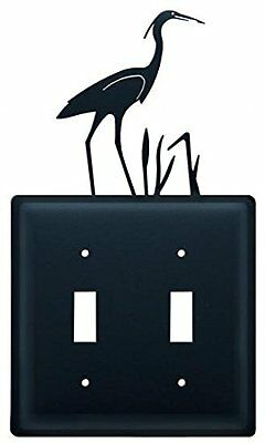ESS-133 Blue Heron Double Switch Electric Cover