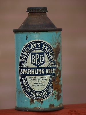 Vintage Barclay Perkins Beer Can, Export Cone Top, Unopened.