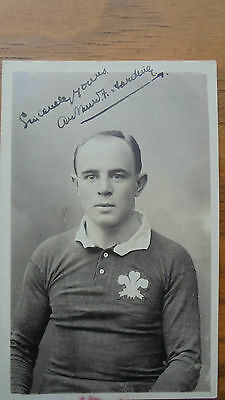 1905 Welsh Rugby Legend - Arthur F. Harding Signed Photo --Wales