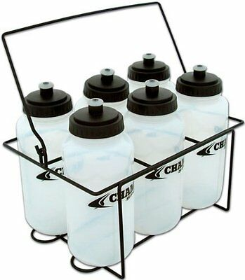 Champro Carrier with 6 Water Bottle Set (White)
