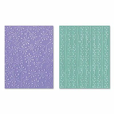 Sizzix Flowers/Bow Strings Textured Impressions Embossing Se