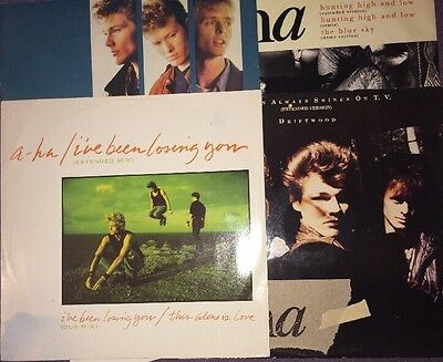 "A-ha - Job Lot Of 4x 12"" Singles"