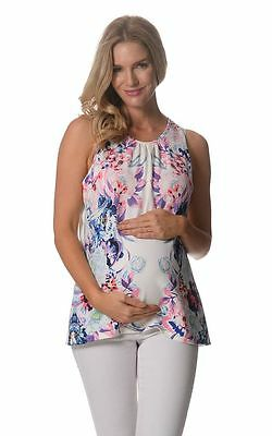 BNWT Floral Print Maternity Top - Pink - Sizes 8,10,12,14 & 16