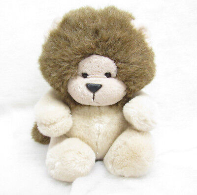 "Vintage 24K Polar Puff Rorie Lion Plush Brown Tan Stuffed Animal 9"" 1985"