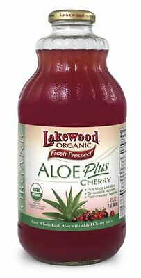 Lakewood Organic Pure Supplement Juice, Aloe Plus Cherry,32