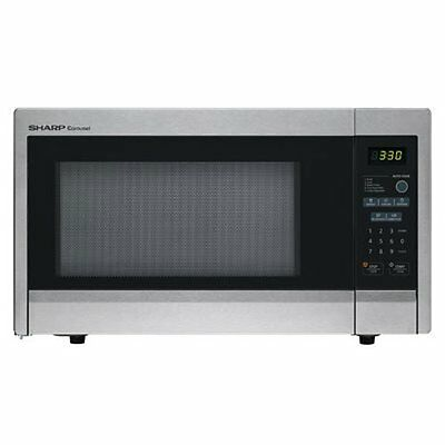 Sharp R-331ZS Microwave (1.1 cu.ft.), Stainless Steel, Stand