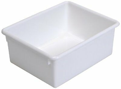 Steffy Wood Products White Storage Tub, 5-Inch by 10-1/2-Inch by 13-Inch