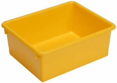 Steffy Wood Products Yellow Storage Tub, 5-Inch by 10-1/2-Inch by 13-Inch