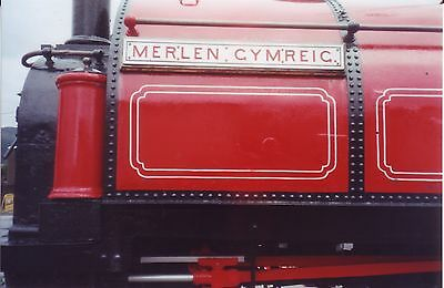 Photo Steam Loco nameplate 6X4  Welsh Narrow gauge Merlen Cymreic