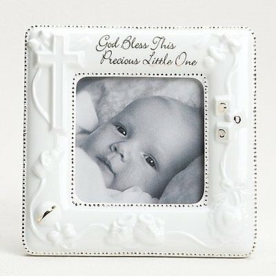 "God Bless Porcelain Frame . 5.625""H X 5.625""D by Roman"