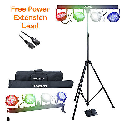 Kam Led Partybar V2 Portable Led Disco / Party Lighting System + Free Ext Lead