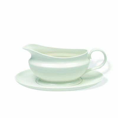 Maxwell and Williams Basics Gravy Boat and Saucer, White