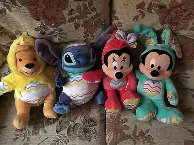 Disney Store Easter Minnie And Mickey, Pooh And Stitch