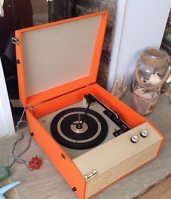 Original Vintage 1970s Portable Rediffusion/Tellux Record Player GWO