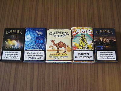 Camel   Zigaretten 5 packs all empty / top condition / CAMEL collectables 7