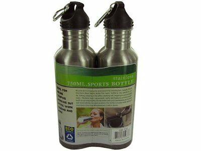 Stainless Steel Sports Water Bottle Set of 2