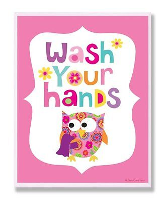The Kids Room by Stupell Wash Your Hands on Pink Background