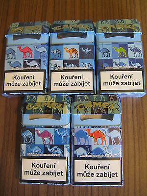 Camel  Zigaretten Packs 5 NEW Camel Color Packs blue from CZ 2015 LEER empty !!!