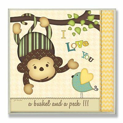 The Kids Room by Stupell I Love You a Bushel and a Peck with