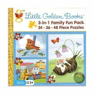 Little Golden Books 3 in 1 Family Fun Pack Puzzle