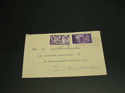 UK 1950? Cover to Iceland *17747