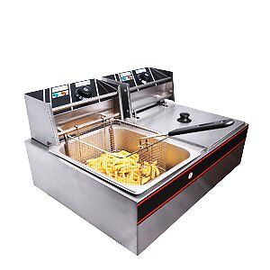 Commercial Stainless Steel Electric Countertop Deep Fryer wi