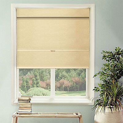 Chicology Cordless Magnetic Roman Shade, Privacy Fabric, The