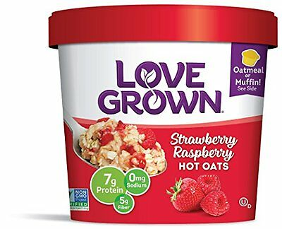 Love Grown Hot Oats, Strawberry Raspberry, 2.22 Ounce (Pack