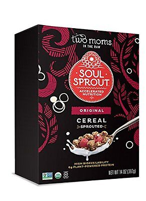 Soul Sprout, by Two Moms Sprouted Grain Free Cereal, 14 Ounc