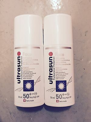 Ultrasun Face Spf 50 Anti-pigmentation 50ml x2 100ml Total BRAND NEW (unboxed)