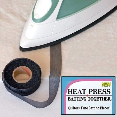 Heat Press Batting 34BL Tape Roll, 3/4 by 10-Yard, Black