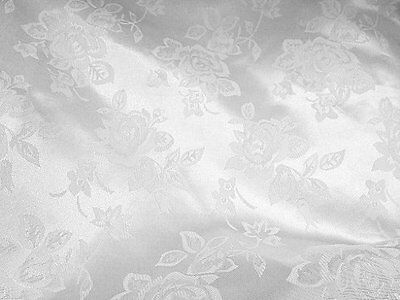 Brocade Jacquard Satin White 60 Inch Fabric By the Yard from The Fabric Exc