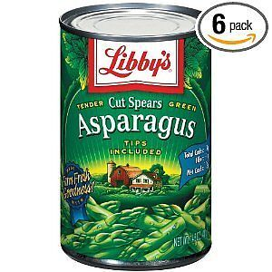 Libby's Cut Asparagus Spears with Tips, 14.5oz Can (Pack of