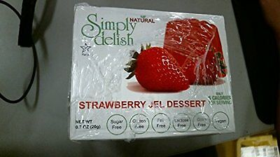 Simply Delish Strawberry Jel Dessert, 0.7 Ounce -- 6 per cas